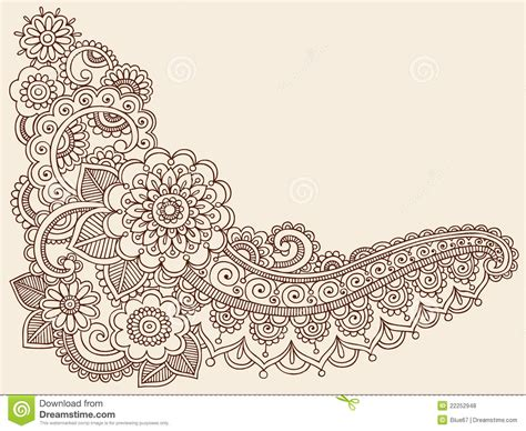 henna mehndi doodle vector design elements stock vector