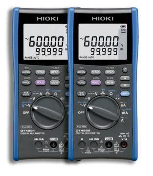 Multimeter Hioki hioki launches the digital multimeter dt4281 and dt4282