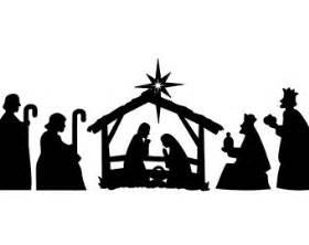 Nativity silhouette vinyl decal chistmas vinyl nativity scene