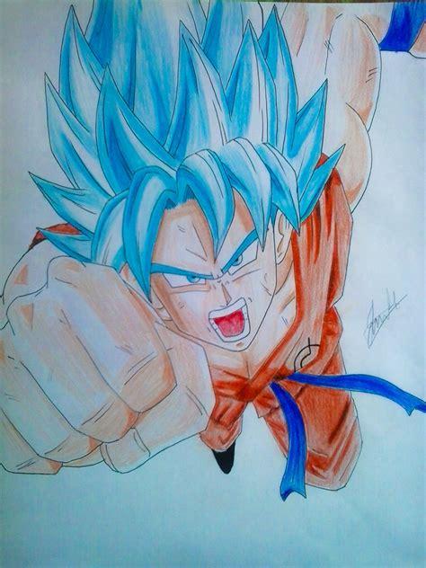 imagenes de goku oscuro goku ssj dios azul by jorgehermosilla on deviantart