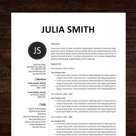 design cv template doc pinterest the world s catalog of ideas
