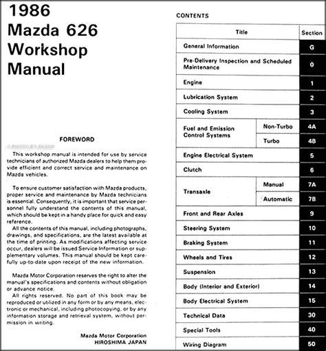 car maintenance manuals 2002 mazda 626 user handbook mazda 626 wiring diagram service manual efcaviation com