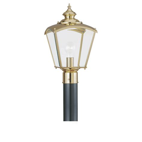polished brass outdoor post lights 8202 02 one light outdoor post lantern polished brass