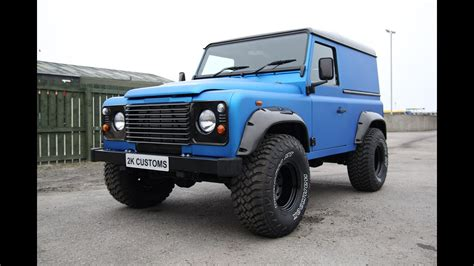 Defender Schlafdach by Landrover Defender Wrap In Arlon Blue Aluminium 2k