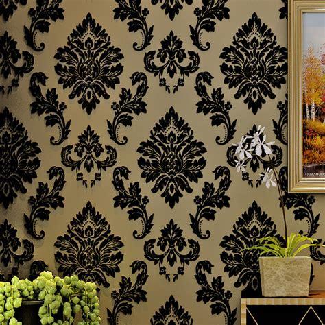wallpaper black cream popular black velvet wallpaper buy cheap black velvet