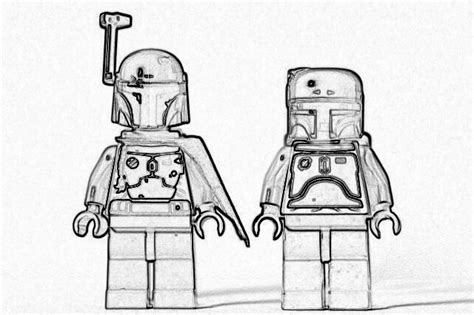 lego wars coloring pages free coloring pages of boba fett para colorear