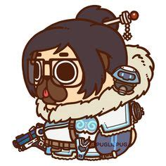 overwatch pugs boop overwatch sombra puglie pug illustration digitalart pugs by