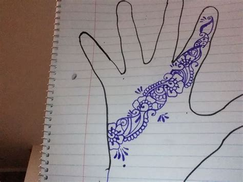 how to draw a henna tattoo on your hand 3 ways to draw henna tattoos wikihow
