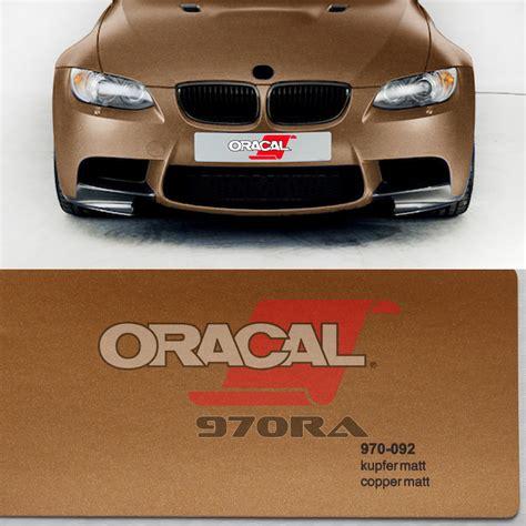 oracal matt oracal 174 copper 970 092m premium wrapping cast matt metallic