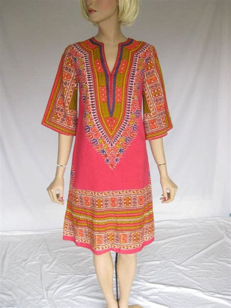 zizi design batik vintage 70s vibrant batik dashiki dress dashiki dress