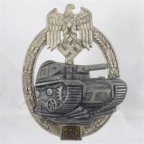 ww2 era german panzer assault uniform badge 25 engagements we buy sell german wwii daggers medals more