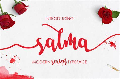 salma script font befontscom