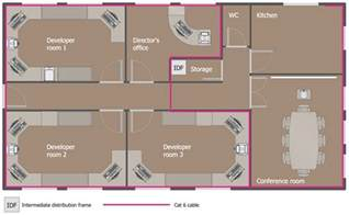 Office Space Floor Plan Creator Network Layout Floor Plans Solution Conceptdraw Com