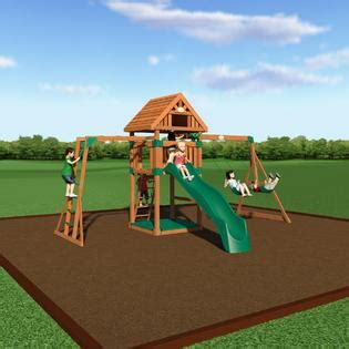 backyard discovery capitol peak wooden swing set free