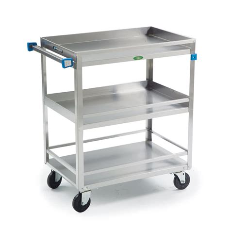 stainless steel cart lakeside 726 stainless steel three shelf heavy duty guard rail utility cart 32 5 8 quot x 19 3 8