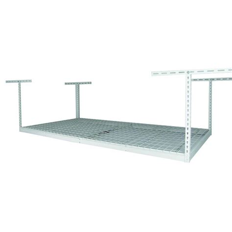 overhead racks saferacks 48 in x 96 in x 21 in overhead storage rack sr 4x8 w pack12 the home depot
