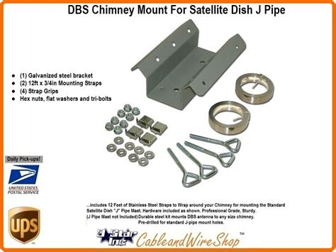 dbs chimney mount kit for satellite dish j pipe attachment 3 incorporated