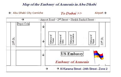 canadian embassy in map embassies in abu dhabi