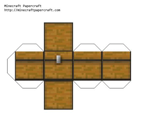 papercraft minecraft pe chest pre 0 7 3