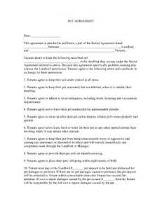pet agreement fill online printable fillable blank