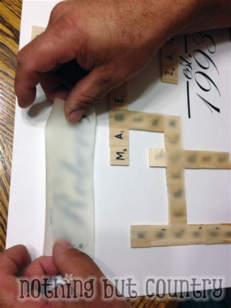 faux scrabble faux scrabble family frame diy gift nothing but country