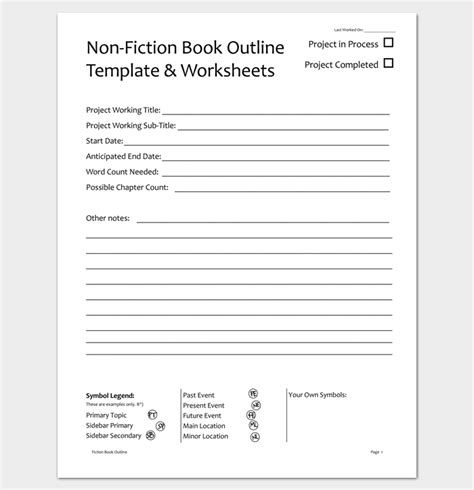 novel notes template book outline template 17 sles exles and formats