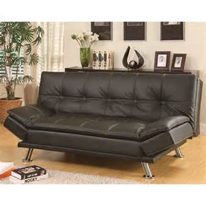 Coaster Sleeper Sofa Coaster Furniture 300281 Contemporary Futon Sleeper Sofa Bed In Black