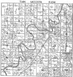 Michigan Plat Maps by 1918 Mecosta Township Mecosta County Michigan Plat Map