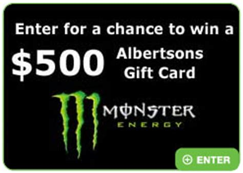 Albertsons Sweepstakes - albertsons 74th anniversary monster energy 500 gift card sweepstakes 20 winners