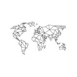 Map Of The World Wall Sticker stickers mappemonde optimistick