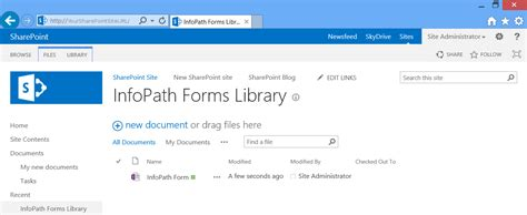 infopath 2013 templates how to create and publish infopath 2013 template to a