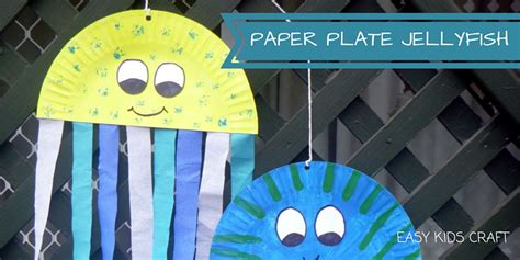 How To Make A Paper Jellyfish - paper plate craft archives easy craft