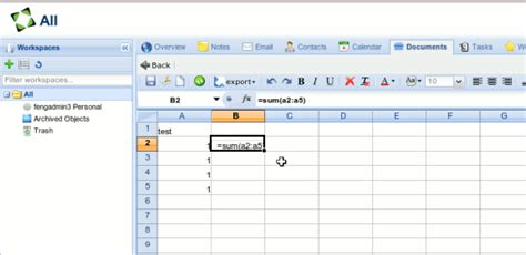 Open Document Spreadsheet Excel by Fengoffice Personal Gdrive With Spreadsheets And E Mail