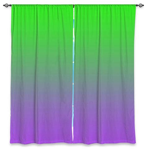 Purple Ombre Curtains Dianoche Unlined Window Curtains By Susie Kunzelman Ombre Purple Green Curtains By Dianoche