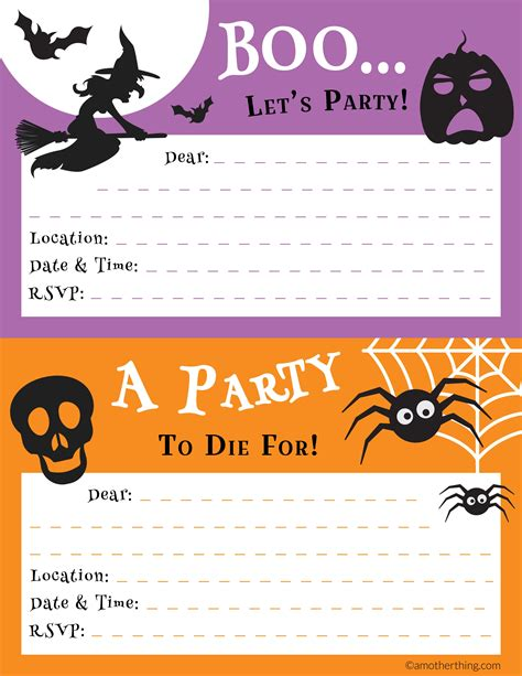 printable halloween invitations to color free printable halloween party pack it s a mother thing
