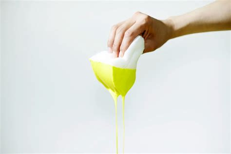 Yellow Liquid Stool by Fondue Stool Wonderfulvinyl