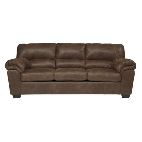Coffee Leather Sofa Bladen Faux Leather Sofa In Coffee 1200038