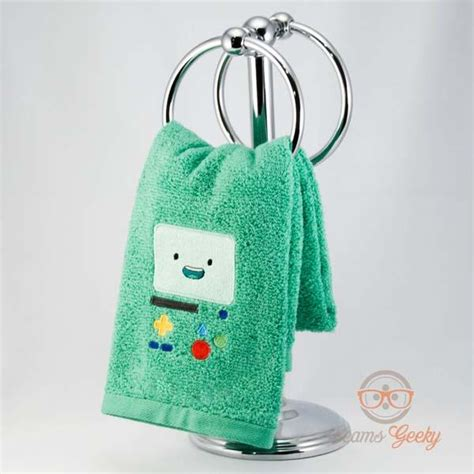 adventure time bathroom adventure time inspired embroidered hand towels gadgetsin