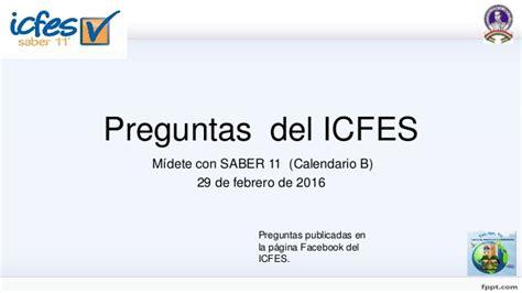 Calendario B Icfes 2016 Preguntas Icfes Saber 11 2016 Calendario B