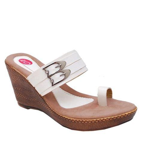 Wedges Lc505 Slip On White ilo white wedges heeled slip on price in india buy ilo white wedges heeled slip on at