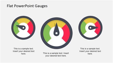 Flat Dashboard Gauges For Powerpoint Slidemodel Powerpoint Speedometer Template