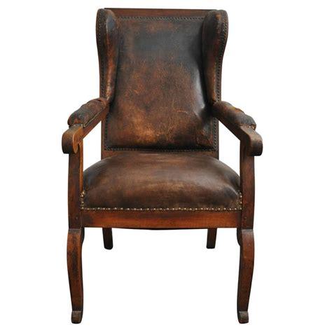 late 19th century german biedermeier high back wing chair