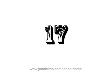 number 17 tattoo designs seventeen 17 number designs page 4 of 4 tattoos