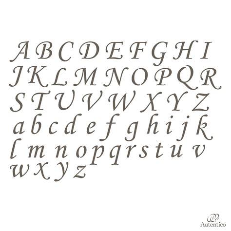 lettere corsivo stencil riutilizzabile quot alfabeto corsivo quot autentico
