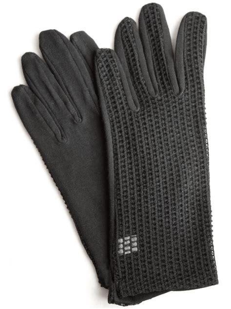 dents short black dress gloves mesh  tout ensemble