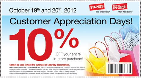 customer appreciation day flyer template staples canada 10 your entire in store purchase