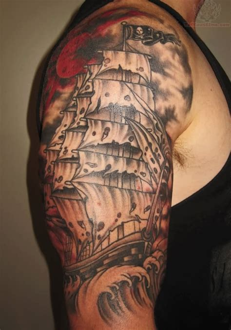 pirate sleeve tattoo designs pirate ship images designs