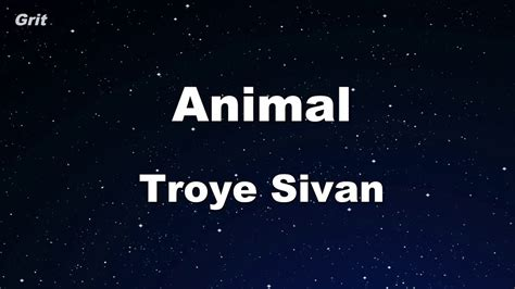 animal troye sivan karaoke  guide melody