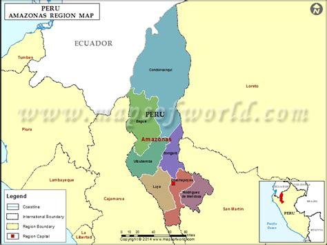 map  amazonas region peru