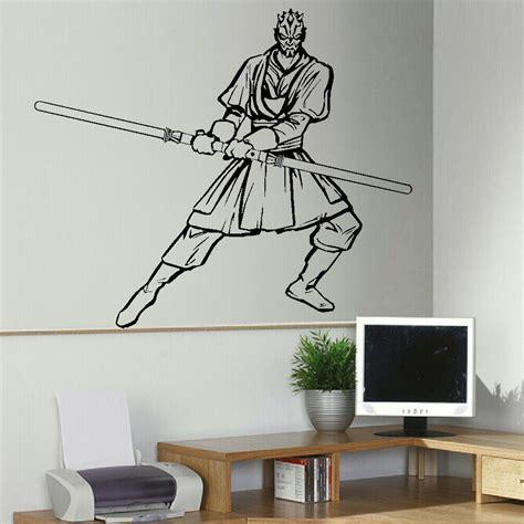 large bedroom wall stickers large darth maul star wars bedroom wall art sticker mural transfer vinyl decal